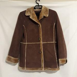 Bernardo faux suede furry jacket